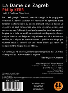 La dame de Zagreb Verso